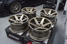 "Cosmis S1 Bronze w/Milled Spokes Wheels 18x9.5"" ET15 / 18x10.5"" ET5 5x114.3"
