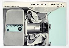 Bolex 18-5L Super Instruction Book