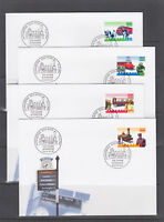 Switzerland Mi 1601/1628, 1997 issues, 8 complete sets in singles on 21 FDCs