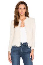 IRO Shavani boucle tweed jacket / blazer - ecru ivory - 36 / 2 4 S