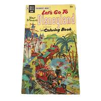 Vintage 1956 Dell RARE Let's Go To DISNEYLAND Coloring Book - UNUSED