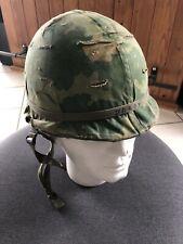 casque Militaria Infanterie armée US Américain guerre vietnam Vintage Helmet war