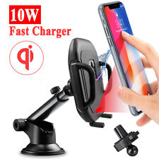 Car QI Wireless Fast Charger Infrared Auto Clamping Mobile Phone Holder   *  !