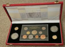 More details for royal mint gillick set sovereigns 1957 & 196 + 11 other coins, coa & free post