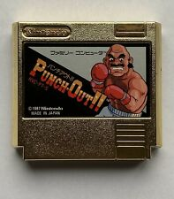Nintendo NES Punch Out!! Japanese Gold Cartridge Near Mint Condition Ultra Rare!