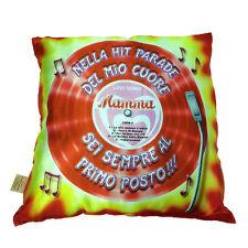 MAMMA cuscino da arredo stampato effetto lucido MAMMA LOVE SONG circa 28X28 cm