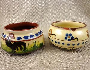 Motto Ware Ceramiche Ciotole Longpark Dipinto a Mano Vintage Torquay Devon