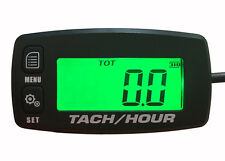 Digital Tachometer Hour Meter w/ Max RPM Recall 2/4 Stroke Backlit Boat outboard