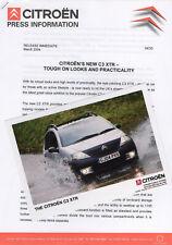 Citroen C3 XTR Press Release/Photographs - 2004
