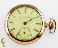 Elgin Open Face Gold Filled Antique Pocket Watch Gr 103 10S 15-Jewel