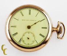 Elgin Open Face Gold Filled Antique Pocket Watch Gr 103 10S 15-Jewel