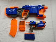 Nerf Hyperfire N-Strike Elite Gun With 10 Bullets Magazine + Hand Pistol