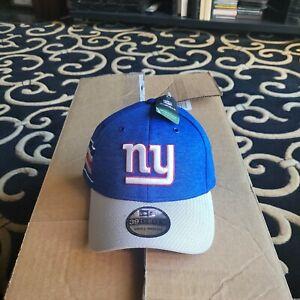 NY GIANTS NEW ERA ONFIELD SMALL MEDIUM FLEX CAP HAT WHITE BLUE RED WHITE NFL NWT