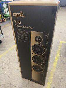 Polk Audio T50 150 Watt Home Theater Floor Standing Tower -BLACK