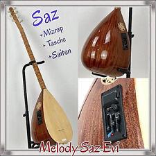 Saz mit Tonabnehmer EQ/ uzun kol / Saz Teli /mizrap/saz teli/ tembur  Melody Saz