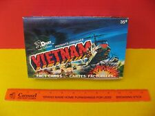 1988 DART FLIP CARDS PRESENTS VIETNAM FACT CARDS / TRADING CARDS SEALED WAX BOX