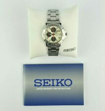 New ListingSeiko Chronograph V657-8111 Mens Quartz Analog Vtg Semi Panda Watch 50M V657