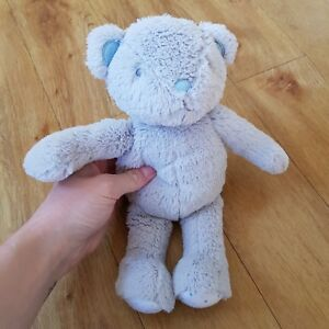 MOTHERCARE Bear GREY STAR PRINT Feet Soft Toy Plush Comforter Soother #BOX16