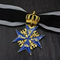 WWII Germany crown Blue Iron Cross German Blue Marx Medal of Merit