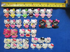 30 Cute  Resin Kitty Cat Bow  Center Flatback Necklace Craft-U PICK
