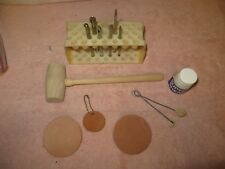 13 Piece Leather Tooling Set - Great for Beginners, Scouts - Flower,Shader,Seed