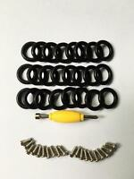 200x O-RINGS Waist Bands & 200x Screws Fits GI Joe 3.75'' Cobra Action Force Toy