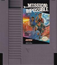 MISSION: IMPOSSIBLE (1990) nes nintendo konami ultra tv us NTSC USA IMPORT