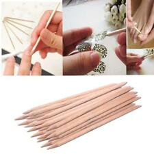 20Pcs Portable Nail Art Orange Wood Stick Cuticle Pusher Remover Manicure Tool