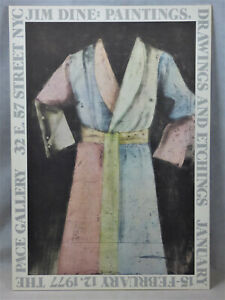Jim Dine Robe Original 1977 Pace Gallery NYC Exhibition Poster Lithograph Art