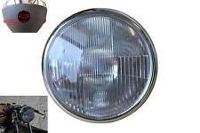 7 inch Black Steel 55W E-marked 12V Motorbike Headlight and Ammeter Housing