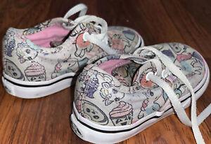 Vans Toddler Girls Unicorn Jojo Cupcake Cat Donut Shoes Size 6
