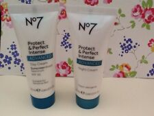 No 7 Protect and Perfect Intense Advanced Day & Night Cream. New  25ml each.