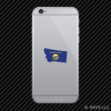 Montana State Shaped Flag Cell Phone Sticker Mobile MT