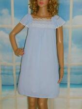 M Vintage Free Bust Short Gown Sears 36, Butterfly Sleeves Blue Nylon Aznw