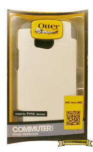 New Otterbox Commuter Series Case For HTC One M8 Glacier White 77-40429
