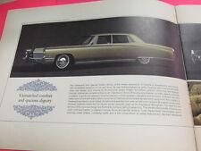 1967 CADILLAC ELDORADO DEVILLE COUPE CALAIS FLEETWOOD SALES CATALOG BROCHURE NEW