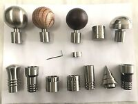 STAINLESS STEEL Curtain Pole Finial Curtain Rod Finial 25mm