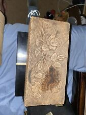 Antique Wooden Bowes Allegretti Chocolates Bon Bons Candy Box Chicago Pyrography