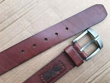 Utility Gear Mens Size 34 Brown Leather Belt Standard Unit Issue Silver buckle