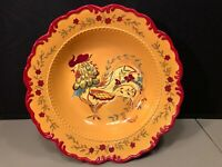 """April Cornell 13.5"""" Rooster Serving Bowl Certified International Discontinued"""