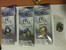 Vancouver Canucks 40th Anniversary 2010 Jersey Pin 4  Assorted Pins