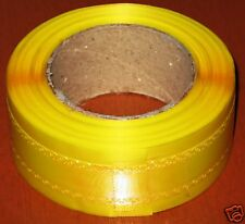Bright attractive yellow 3cm satin ribbon lace design