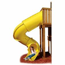 Swing Play Set backyard jungle Gym Playground lawn Outdoor Turbo Slide Yellow