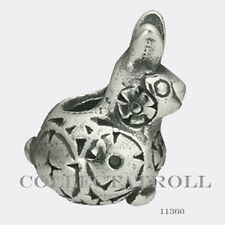 Authentic Trollbeads Silver Decorative Rabbit Baby Bead Trollbead 11360
