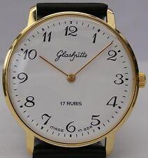 Wie neu: Große runde mechanische ORIGINAL GLASHÜTTE Armbanduhr aus der DDR