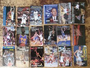 University of Pittsburgh Panther Basketball schedules- 1979 - 2015 *Lot of 27*
