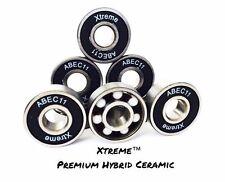 8 Pack XTREME ABEC 11 PREMIUM HYBRID CERAMIC BEARINGS Zr02 RS SKATEBOARD SCOOTER