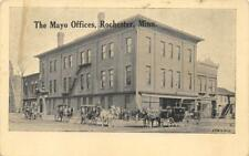 The Mayo Offices, Rochester, MN Horse-Drawn Carriages ca 1910s Vintage Postcard