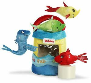 """8"""" Dr. Seuss Fish Playset - One Fish Two Fish Red Fish Blue Fish"""