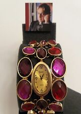"Arnold Scaasi• ""VINTAGE-Watch""•Multi Color Goldtone Bracelet. NWT & Gift Box."
